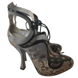 Miu Miu Cut-Out Leather Heels