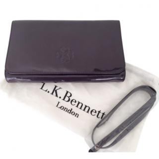 LK Bennett C/U Frome Patent Leather Clutch in Purple
