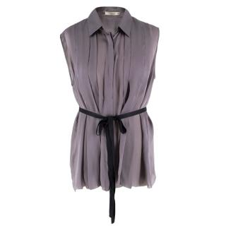 Prada Silk Sleeveless Shirt