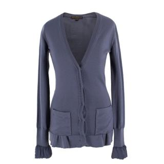 Burberry Blue Button-Up Cardigan