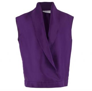 Yves Saint Laurent Silk Wrap Blouse