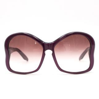 b6ac40456346 Prada Purple Oversized Sunglasses
