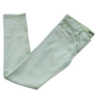 Balmain Green Skinny Jeans