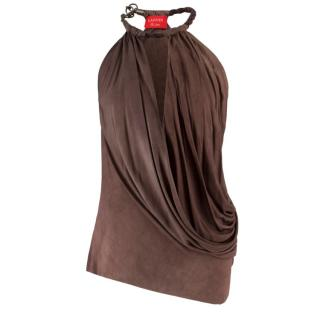 Lanvin Brown Vest Top