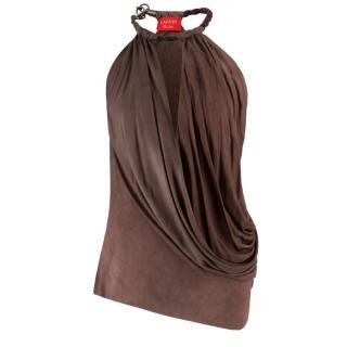 Lanvin Brown Vest Top