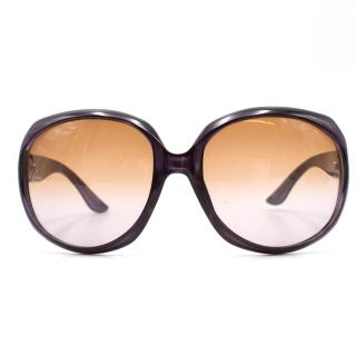 Dior Purple Rounded Sunglasses