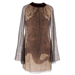 Jean Paul Gaultier Long Sleeve Sheer Dress