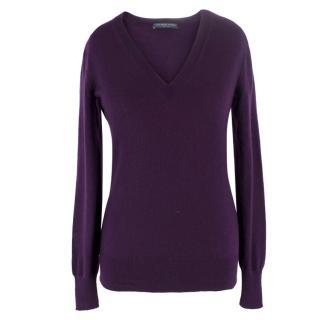 Alexander McQueen Purple Cashmere Sweater