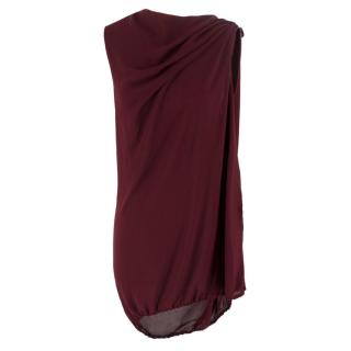Lanvin Burgundy Dress