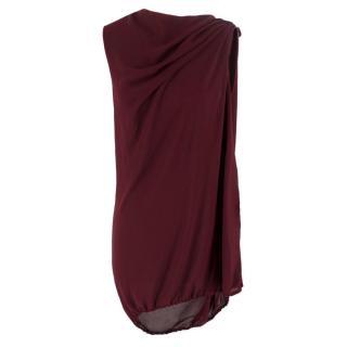 Lanvin Burgundy Dress