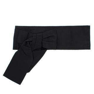 Dolce & Gabbana Black Bow Belt