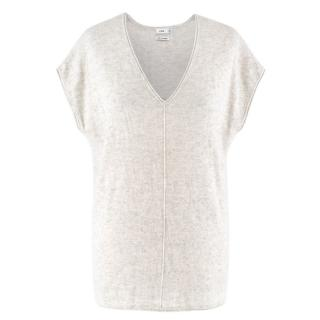 Vince White Speckled Cashmere Top