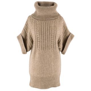 Elie Tahari Tan Knit Sweater