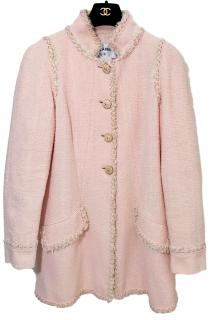 Chanel Cruise Collection Pink Long Boucle Jacket