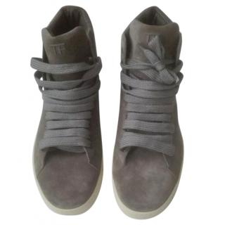 Tom Ford High-Top Grey Trainers