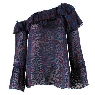 IRO Silk Blend One Shoulder Blouse