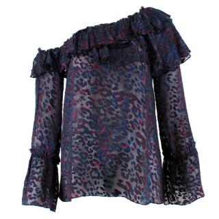 IRO Silk Blend One Shoulder Blouse