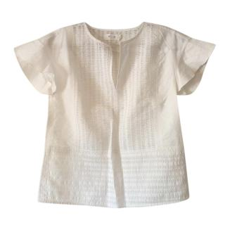 MIH White Short Sleeve Top