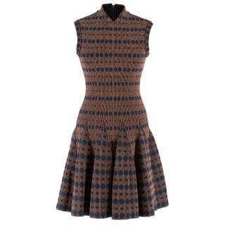 Alaia Drop Waist Wool-Blend Dress