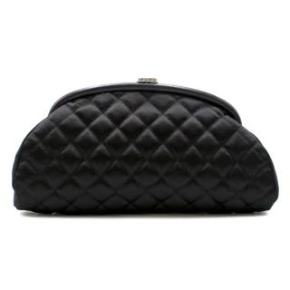 Chanel Quilted Satin Clutch Bag