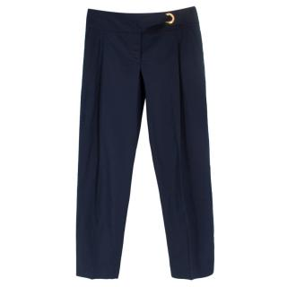 Carolina Herrera Navy Trousers