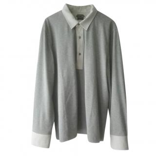 Tom Ford Contrast Collar Polo Shirt