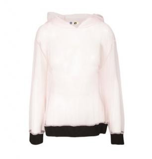 MSGM Pink Tulle Hooded Top