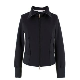 Moncler Black Crew-Neck Zip-Up Jacket