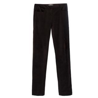 Diane Von Furstenberg Brown Velvet Trousers
