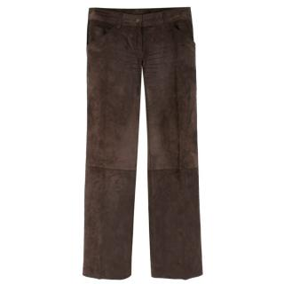 Dolce & Gabbana Brown SuedeTrousers