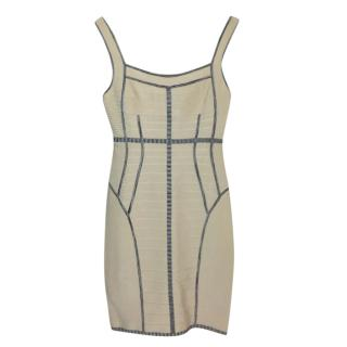 Herve Leger Beige Dress