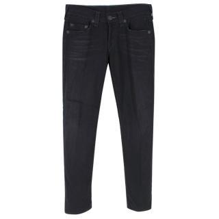 True Religion Washed Black Slim Jeans