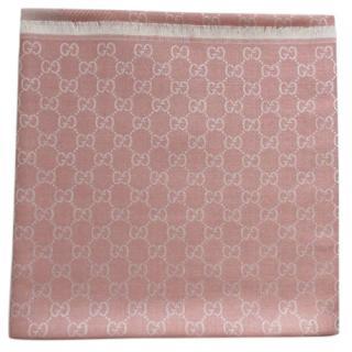 Gucci Pink Wool Scarf