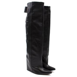 Balenciaga Leather Wedge Boots
