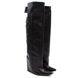 Balenciaga Leather Wedge Boots