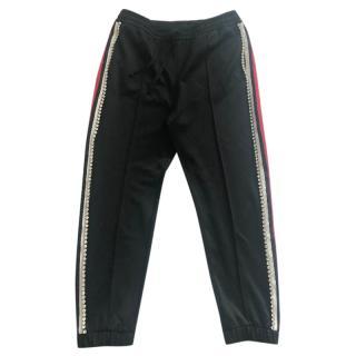 Gucci Crystal Embellished Trackpants