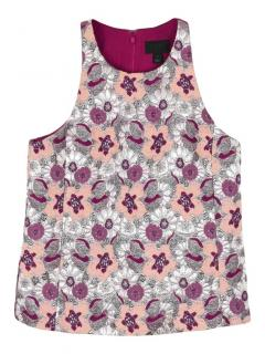 J.Crew Collection floral brocade sleeveless top