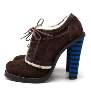 Balenciaga Heeled Suede Boots
