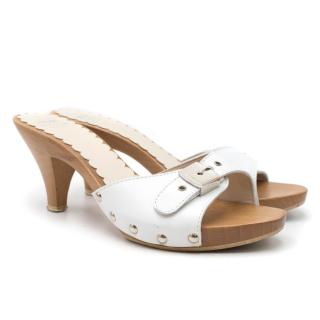 Moschino Cheap and Chic Wooden Sandals