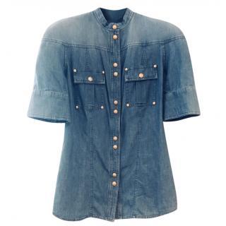 Balmain Short Sleeved Denim Shirt
