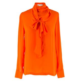 Stella McCartney Orange Silk Blouse
