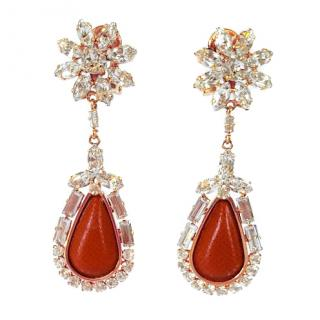 Prada Saffiano Clip-On Earrings