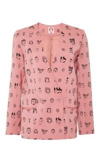 Shrimps Vera Faces Printed Blazer