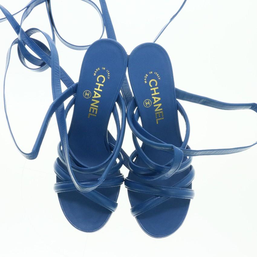 b0fd0e829f81f Chanel Tieup Heeled Sandals
