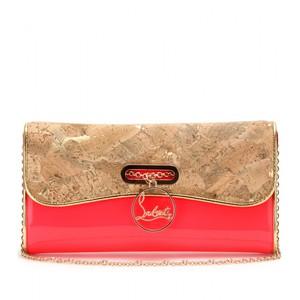 ac5de6b57e5 Christian Louboutin Patent Leather & Cork Riviera Clutch Bag