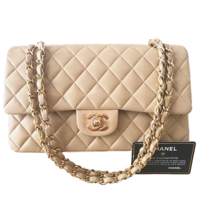 Chanel Quilted Lambskin 255 Vintage Classic Double Flap Bag 1  bec6edaed1480