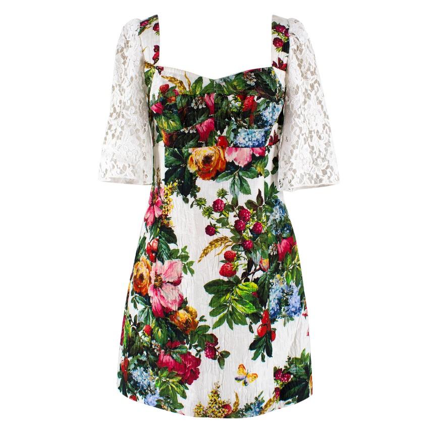 Dolce & Gabbana Multi-Colored Floral Print Dress