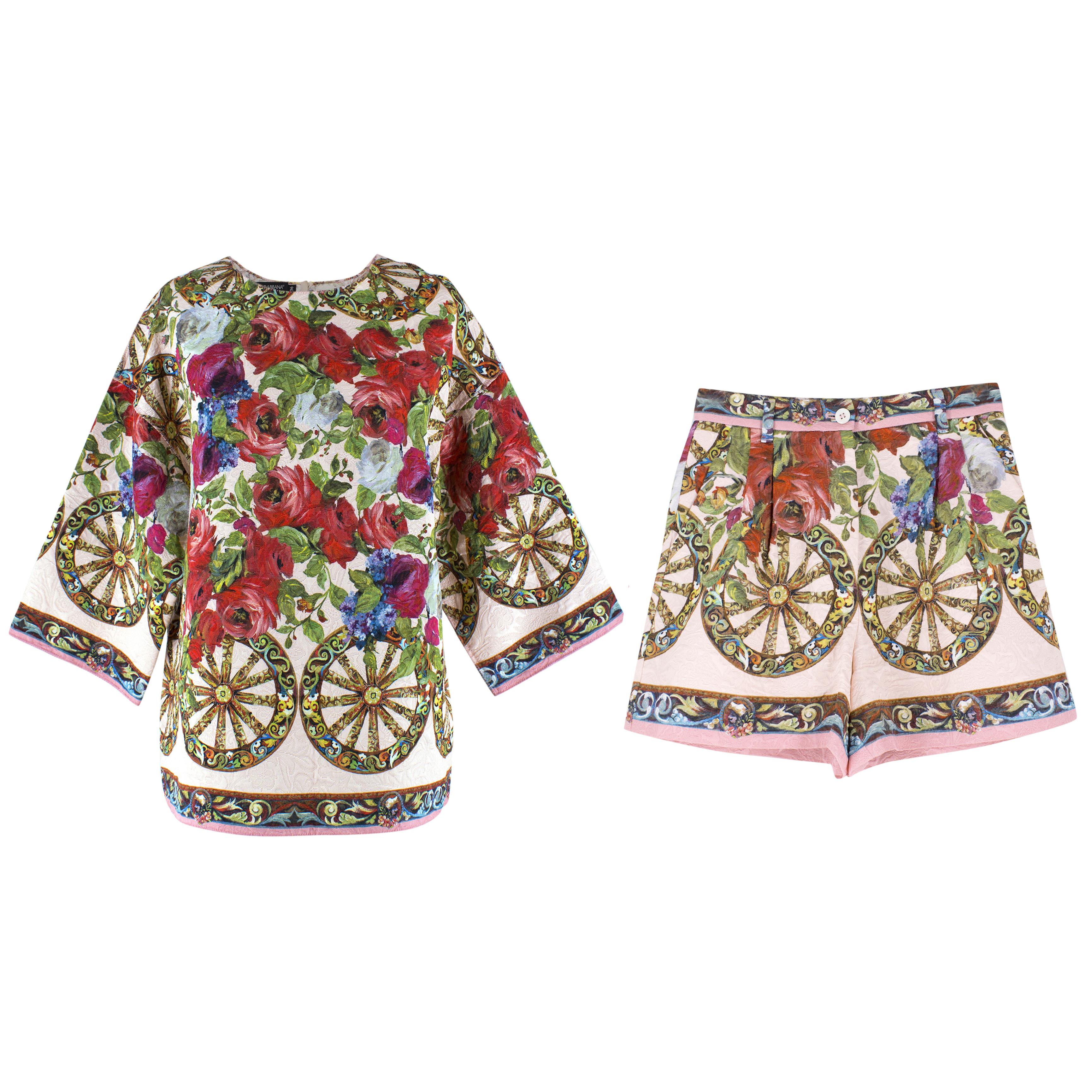 Dolce & Gabbana Rose Jacquard Set