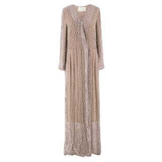 Notes Du Nord Nude Embellished Gown