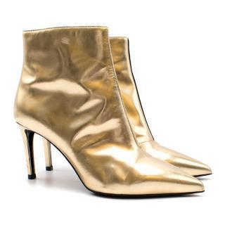 Balenciaga Gold Heeled Boots